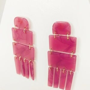 CLOSET REHAB Jewelry - 🆑 Fringly Drop Earring in Pink